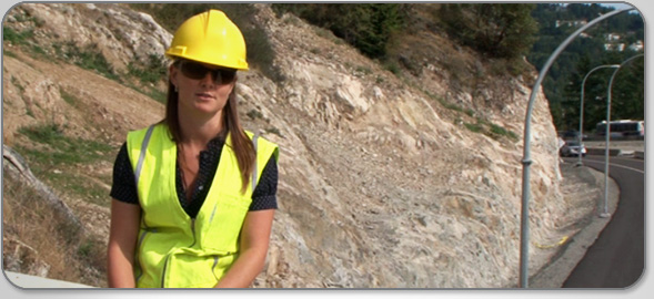 Meet Julie Thoreson, Engineering Technician, as she helps design and construct the Sea-to-Sky Highway.